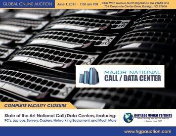 call / data center - Liquidation Auction - Equipment Auctions| HGP ...