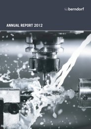 ANNUAL REPORT 2012 - Berndorf AG
