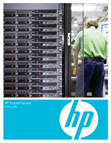 HP ProLiant servers family guide - 3D Tech Solutions