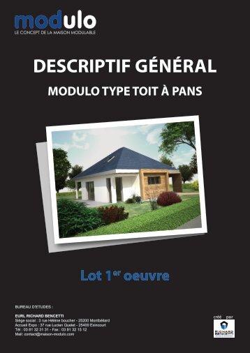 Télécharger le descriptif technique - Maison Modulo