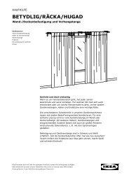 BETYDLIG/RÄCKA/HUGAD - Ikea