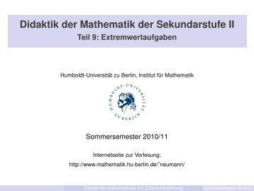 Folien 2. Teil - Mathematik und ihre Didaktik - HU Berlin