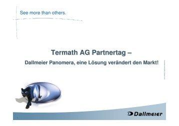 Dallmeier Komplettlösung / Managementsystem ... - Termath AG