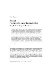 Beyond Foreignisation and Domestication - SEAS