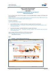 how to view offline reports supplier self service (sus) - TM