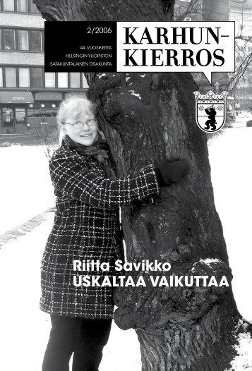 Riitta Savikko USKALTAA VAIKUTTAA - Satakuntalainen Osakunta