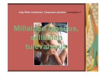 Anja Riitta Lahikainen 3.11. Perjantaiyliopisto