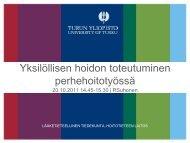 Turun yliopisto - Sairaanhoitajaliitto
