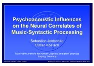 P h ti I fl Psychoacoustic Influences on the Neural ... - Video lectures