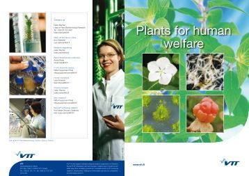 Plants for human welfare - VTT
