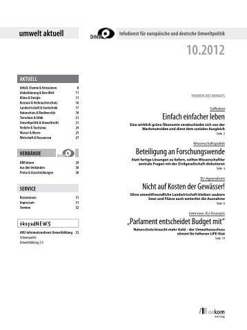 Oktober 2012 - EU-Koordination