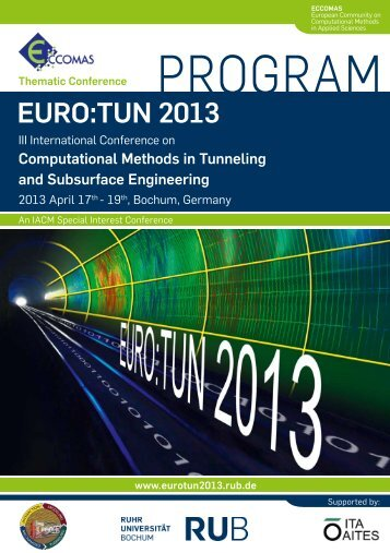 Conference Agenda - EURO:TUN 2013