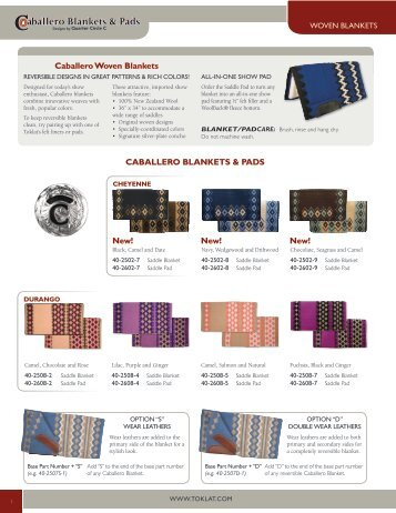 CABALLERO BLANKETS & PADS Caballero Woven Blankets New ...