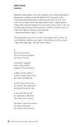 29 Beloit Poetry Journal Spring 2013 MARIo CHARD Caballero ...