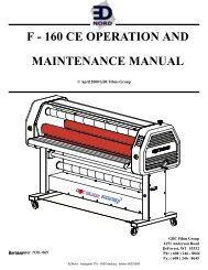 f - 160 ce operation and maintenance manual - Ednord