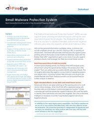 FireEye Email Malware Protection System Datasheet