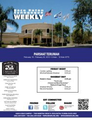 Weekly - Boca Raton Synagogue