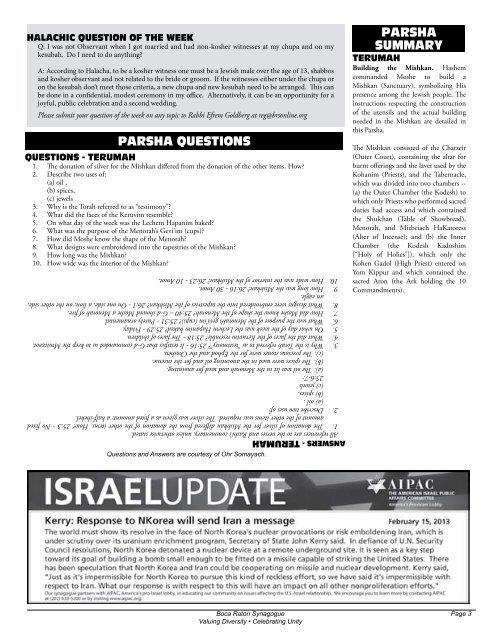 Weekly - Boca Raton Synagogue