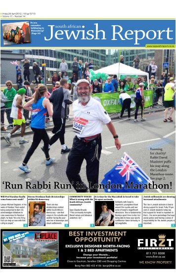 'Run Rabbi Run' in London Marathon! - South African Jewish Report
