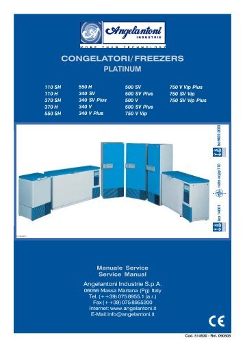 CONGELATORI/ FREEZERS - Swissvacuum.com