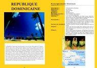 REPUBLIQUE DOMINICAINE - Universal Tourisme