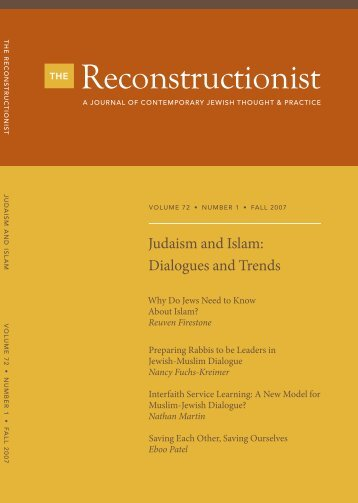 Judaism and Islam: Dialogues & Trends - Reconstructionist ...