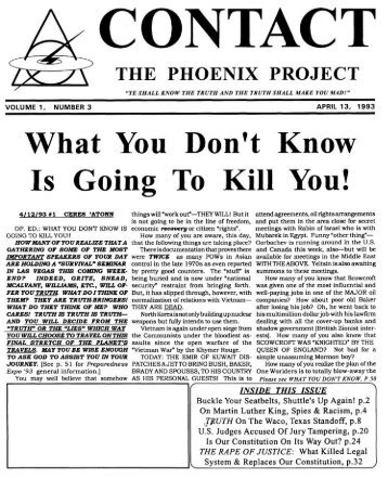 The Phoenix Project 930413 - CONTACT Phoenix Journal Review