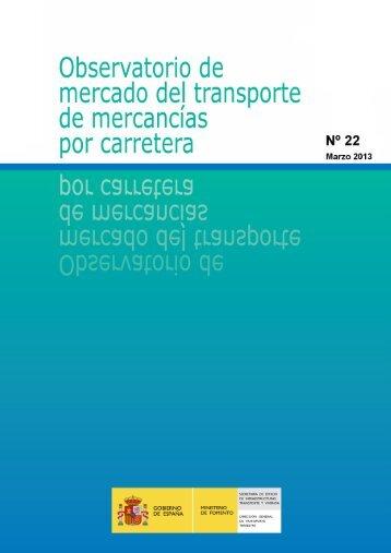 Observatorio de Mercado nº22 (marzo 2013) - Ministerio de Fomento