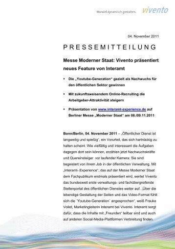 Messe Moderner Staat - Vivento