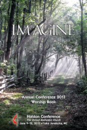 Annual Conference 2013 Worship Book Holston Conference