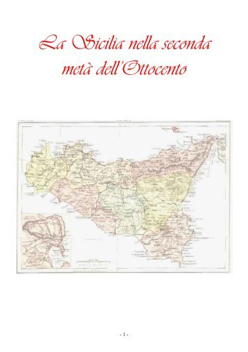 La Sicilia nella seconda metà dell'Ottocento - Liceo magistrale
