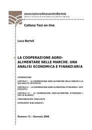 la cooperazione agro- alimentare nelle marche. una analisi ...