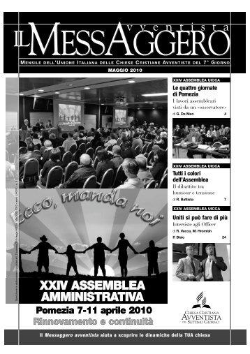 MESSAGGERO maggio - Avventisti del Settimo Giorno