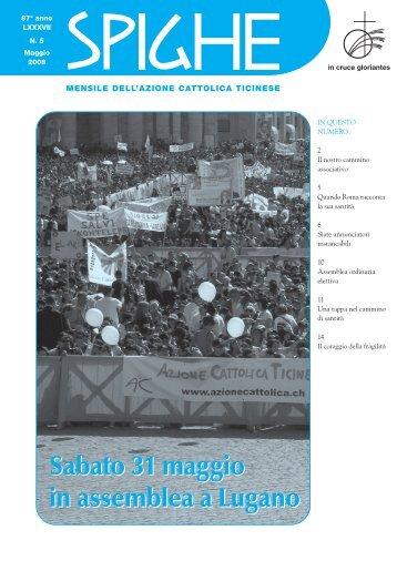 05_spighe__2008_maggio - Azione Cattolica Ticinese
