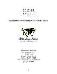2012 band handbook - Millersville University