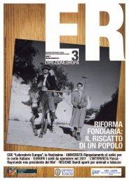 Europa Rurale anno 7 n. 3 maggio/giugno 2011 - Regione Lazio