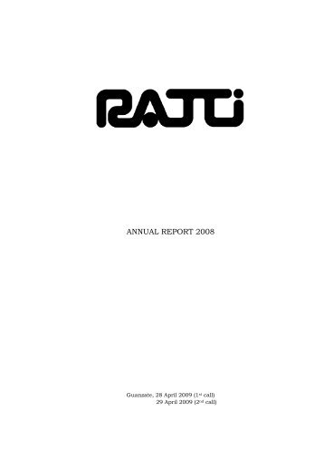 ANNUAL REPORT 2008 - Ratti SpA