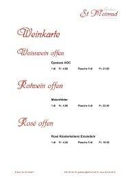 Weinkarte (PDF) - Gasthaus St. Meinrad