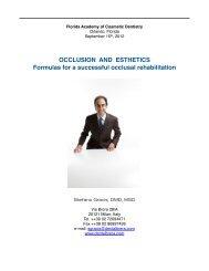 OCCLUSION AND ESTHETICS Formulas for a ... - Dentalbrera
