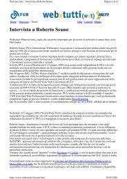 Intervista a Roberto Scano