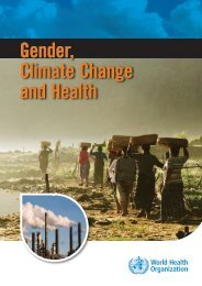 Gender, Climate Change and Health