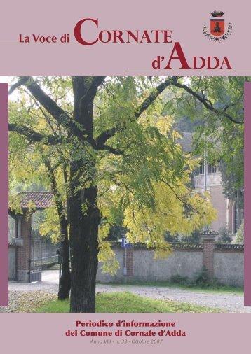 Numero Ottobre 2007 - Comune di Cornate d'Adda