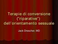 Vedi la presentazione del prof. J. Drescher - Ordine degli Psicologi ...