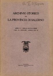 Archivio storico per la provincia di Salerno (gen.-apr ... - EleA@UniSA