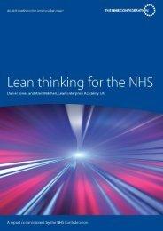 Lean thinking for NHS - Lean Enterprise Academy