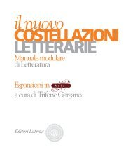 Manuale modulare di Letteratura Espansioni in a ... - Editori Laterza