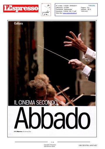 Il cinema secondo Abbado - Orchestra Mozart