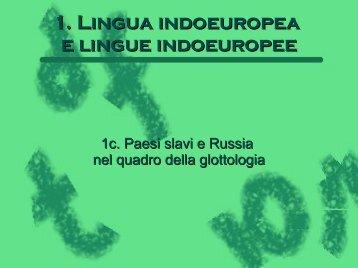 1. Lingua indoeuropea e lingue indoeuropee