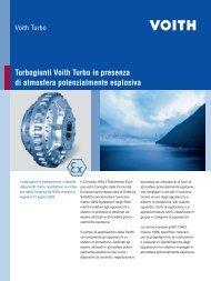 Turbogiunti Voith Turbo in presenza di atmosfera potenzialmente ...