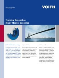 Technical Information Highly Flexible Couplings - Voith Turbo